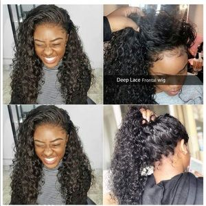 Deep Wave Lace Front Wig w/ Baby Hair Pre Plucked
